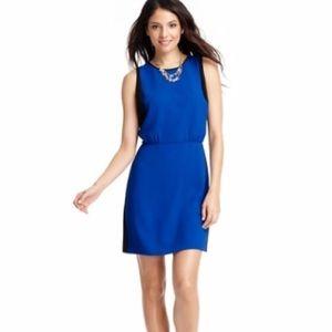 Loft blue and black color block dress
